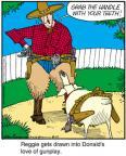 Cartoonist Jerry Van Amerongen  Ballard Street 2012-08-10 gun