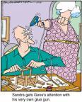 Cartoonist Jerry Van Amerongen  Ballard Street 2012-11-10 spouse