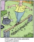 Cartoonist Jerry Van Amerongen  Ballard Street 2012-12-03 board