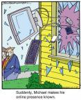 Cartoonist Jerry Van Amerongen  Ballard Street 2013-01-22 window