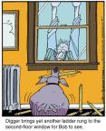 Cartoonist Jerry Van Amerongen  Ballard Street 2013-02-01 window