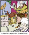 Comic Strip Jerry Van Amerongen  Ballard Street 2013-02-26 wooden horse