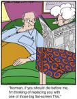 Cartoonist Jerry Van Amerongen  Ballard Street 2013-03-29 spouse