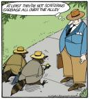 Cartoonist Jerry Van Amerongen  Ballard Street 2013-04-29 wildlife
