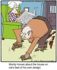 Cartoonist Jerry Van Amerongen  Ballard Street 2013-06-01 cat