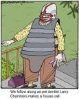 Cartoonist Jerry Van Amerongen  Ballard Street 2013-06-08 pet