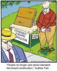 Cartoonist Jerry Van Amerongen  Ballard Street 2013-12-12 board
