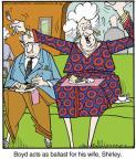 Cartoonist Jerry Van Amerongen  Ballard Street 2013-12-26 wife