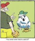 Cartoonist Jerry Van Amerongen  Ballard Street 2014-02-05 catch baseball