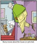 Cartoonist Jerry Van Amerongen  Ballard Street 2014-04-05 cat