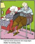 Cartoonist Jerry Van Amerongen  Ballard Street 2014-04-09 spouse