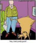 Cartoonist Jerry Van Amerongen  Ballard Street 2014-05-10 dog trick