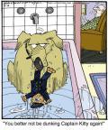 Cartoonist Jerry Van Amerongen  Ballard Street 2014-06-16 cat