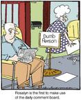 Cartoonist Jerry Van Amerongen  Ballard Street 2014-07-24 board