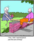 Cartoonist Jerry Van Amerongen  Ballard Street 2014-08-14 board
