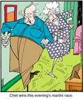 Cartoonist Jerry Van Amerongen  Ballard Street 2014-09-10 game