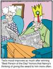 Cartoonist Jerry Van Amerongen  Ballard Street 2015-01-20 honor