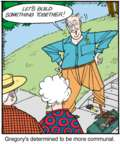 Cartoonist Jerry Van Amerongen  Ballard Street 2015-09-04 something