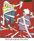 Cartoonist Jerry Van Amerongen  Ballard Street 2016-12-23 out