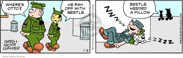 Wheres Otto? He ran off with Beetle. Zzzzzzzzzz. Beetle needed a pillow.