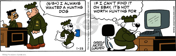 Sigh. I always wanted a hunting dog. If I cant find it on eBay, its not worth hunting for.