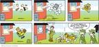 Cartoonist Brian Walker Greg Walker Mort Walker  Beetle Bailey 2010-03-14 throw up