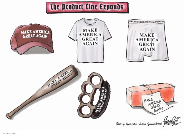 The Product Line Expands. Make America Great Again. Trump.