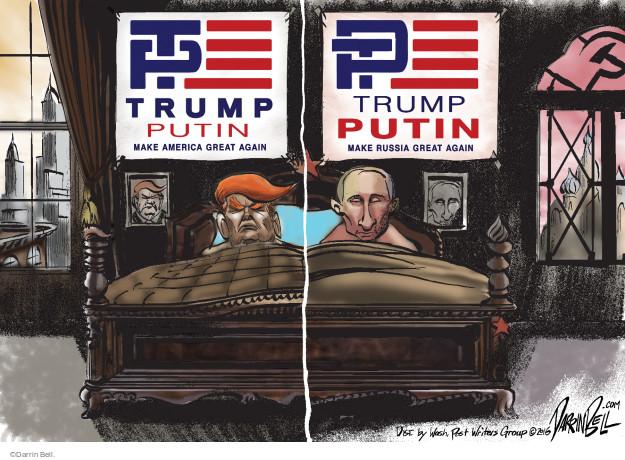 T P. Trump Putin. Make America Great Again. P T. Trump Putin. Make Russia Great Again.