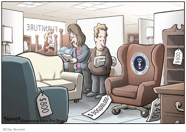 Clay Bennett  Clay Bennett's Editorial Cartoons 2008-01-06 expense