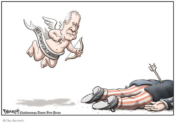 Clay Bennett  Clay Bennett's Editorial Cartoons 2008-01-17 cupid