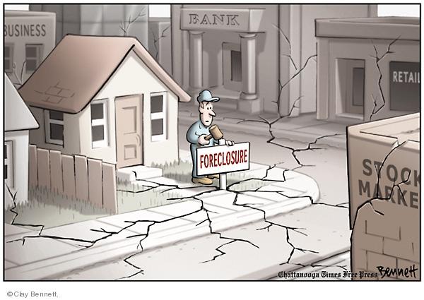 Clay Bennett  Clay Bennett's Editorial Cartoons 2008-01-23 stock market