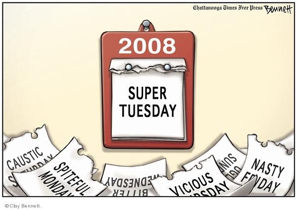 Clay Bennett  Clay Bennett's Editorial Cartoons 2008-02-04 name
