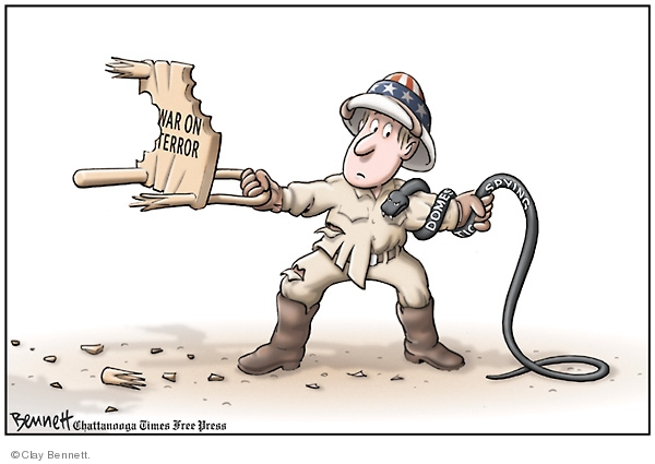 Clay Bennett  Clay Bennett's Editorial Cartoons 2008-02-26 spy