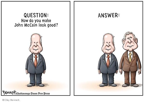 Cartoonist Clay Bennett  Clay Bennett's Editorial Cartoons 2002-03-02 answer