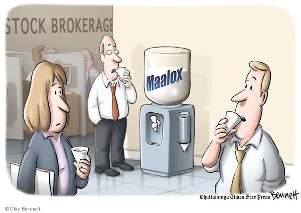 Clay Bennett  Clay Bennett's Editorial Cartoons 2008-03-18 stock market