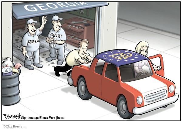 Clay Bennett  Clay Bennett's Editorial Cartoons 2008-04-09 assembly