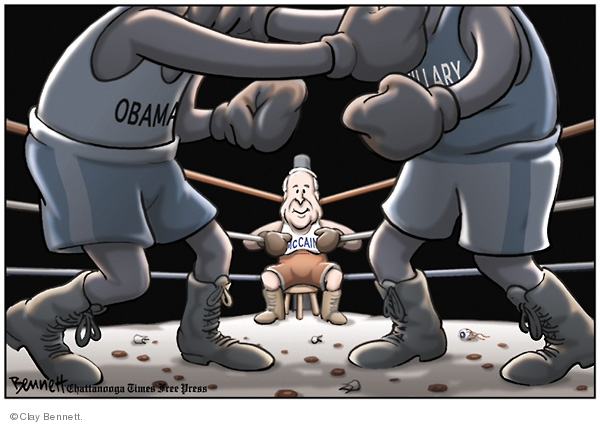 Clay Bennett  Clay Bennett's Editorial Cartoons 2008-04-23 boxing