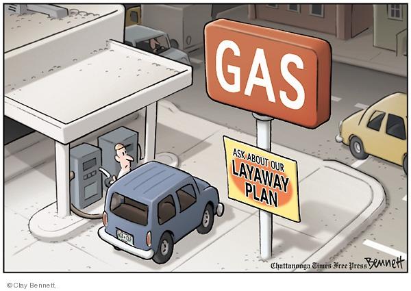 Clay Bennett  Clay Bennett's Editorial Cartoons 2008-04-27 driver