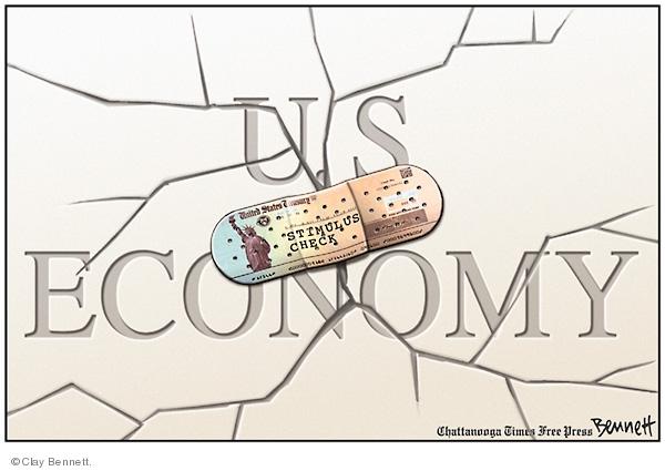 Cartoonist Clay Bennett  Clay Bennett's Editorial Cartoons 2008-04-29 recession
