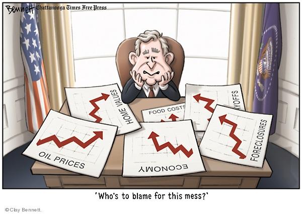 Cartoonist Clay Bennett  Clay Bennett's Editorial Cartoons 2008-04-30 recession
