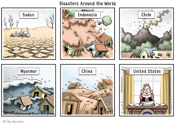 Cartoonist Clay Bennett  Clay Bennett's Editorial Cartoons 2008-05-13 China