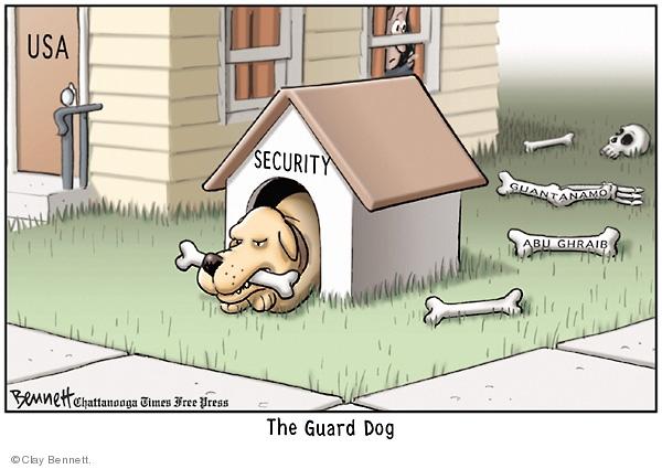 Clay Bennett  Clay Bennett's Editorial Cartoons 2008-06-19 detainment