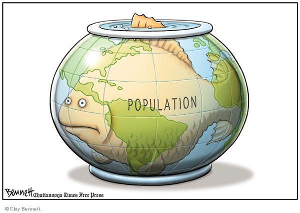 Clay Bennett  Clay Bennett's Editorial Cartoons 2008-06-29 population