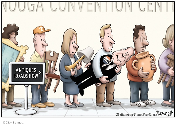 Clay Bennett  Clay Bennett's Editorial Cartoons 2008-07-20 antiques roadshow