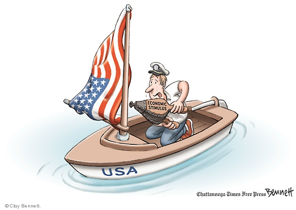 Clay Bennett  Clay Bennett's Editorial Cartoons 2008-07-24 boat