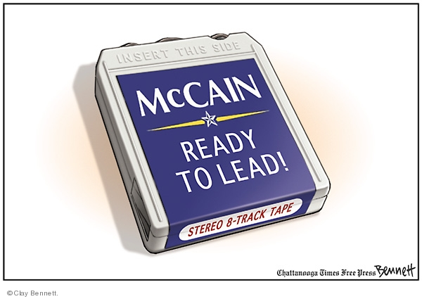 Insert this side.  McCain.  Ready to Lead!  Stereo 8-Track Tape.