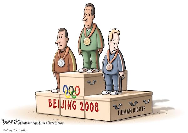 Clay Bennett  Clay Bennett's Editorial Cartoons 2008-08-09 chinese