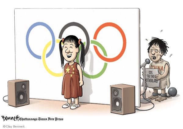 Clay Bennett  Clay Bennett's Editorial Cartoons 2008-08-13 chinese