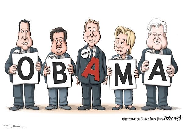 Clay Bennett  Clay Bennett's Editorial Cartoons 2008-08-15 2008 election endorsement