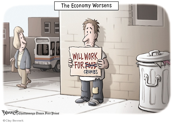 Clay Bennett  Clay Bennett's Editorial Cartoons 2008-08-27 poor